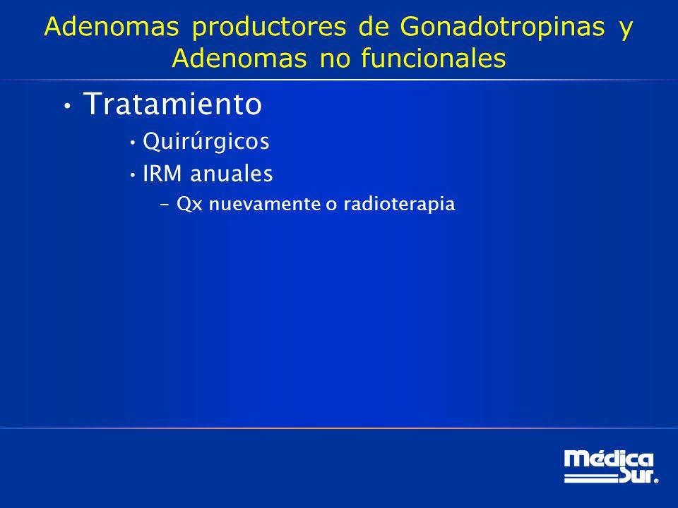 Adenomas productores de Gonadotropinas y Adenomas no funcionales