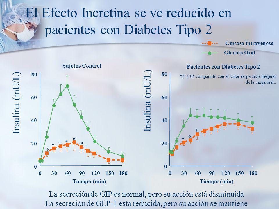 El Efecto Incretina se ve reducido en pacientes con Diabetes Tipo 2