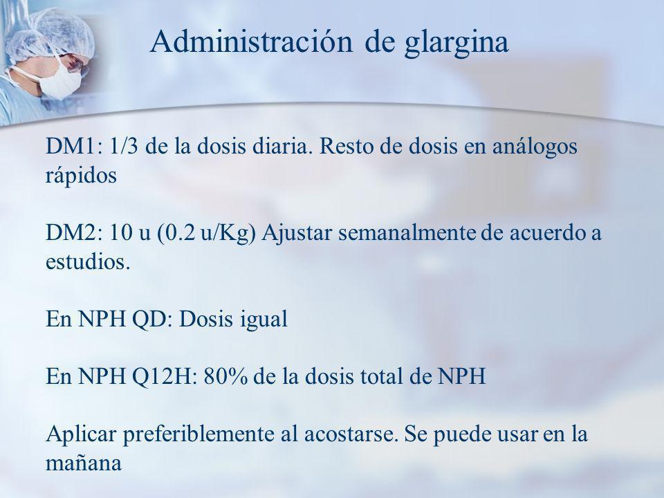 Administración de glargina