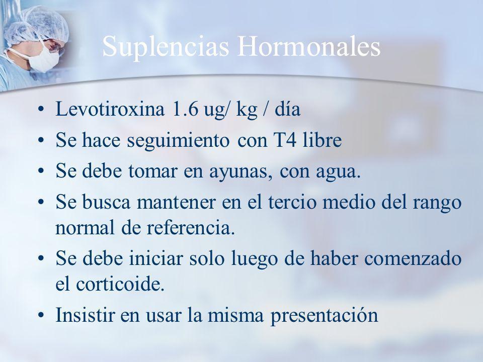 Suplencias Hormonales