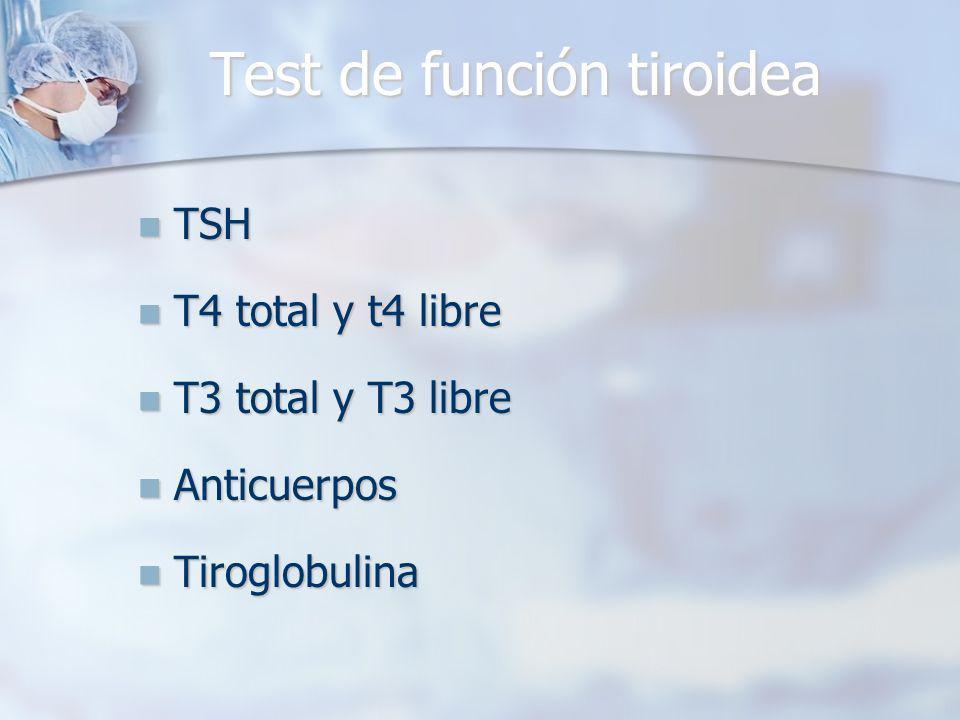 Test de función tiroidea