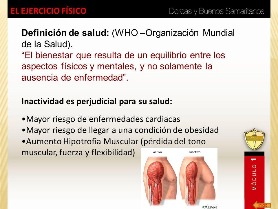Definición de salud: (WHO –Organización Mundial de la Salud).