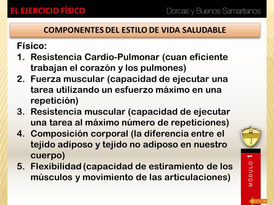 COMPONENTES DEL ESTILO DE VIDA SALUDABLE
