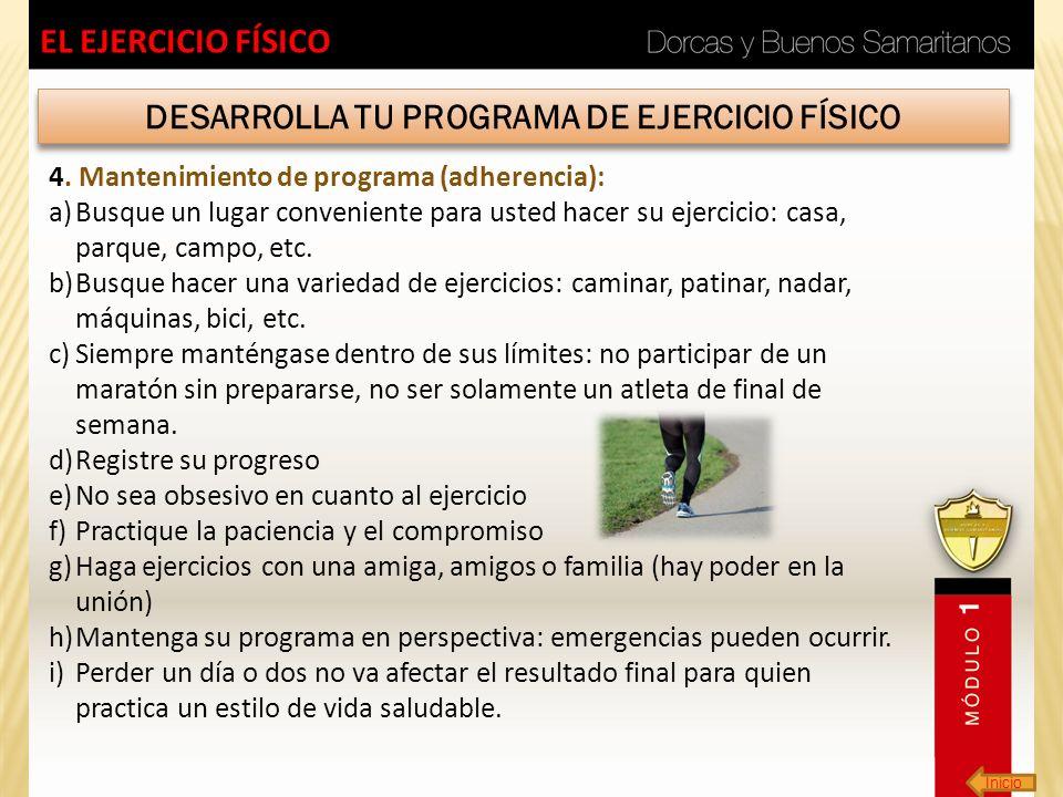 DESARROLLA TU PROGRAMA DE EJERCICIO FÍSICO
