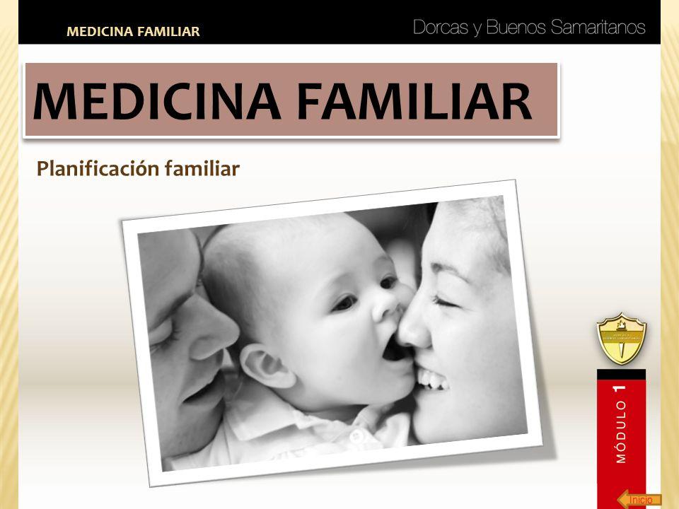 MEDICINA FAMILIAR MEDICINA FAMILIAR Planificación familiar Inicio