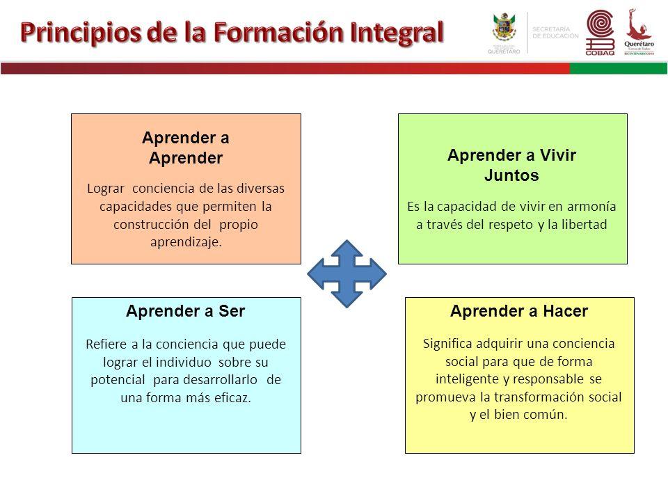 Principios de la Formación Integral