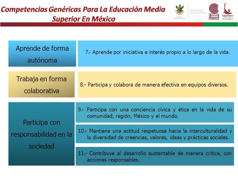 Competencias Genéricas Para La Educación Media