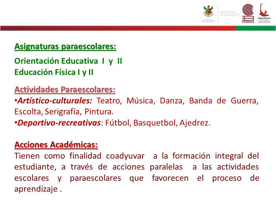 Asignaturas paraescolares: