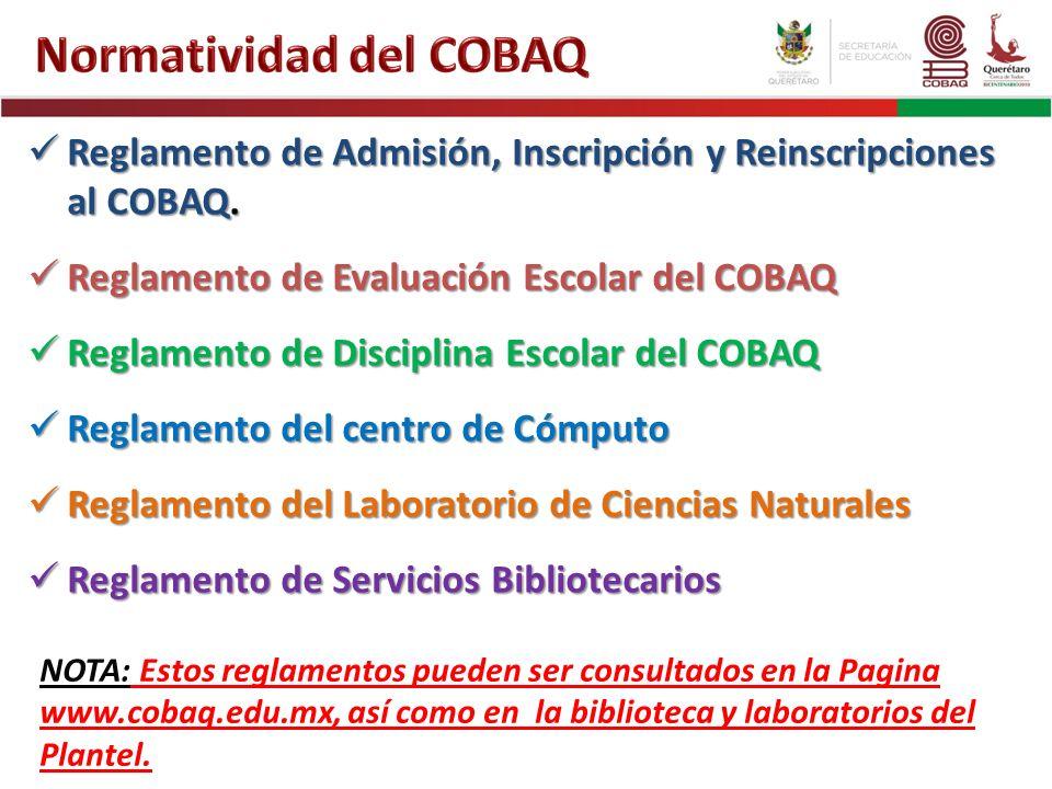 Normatividad del COBAQ