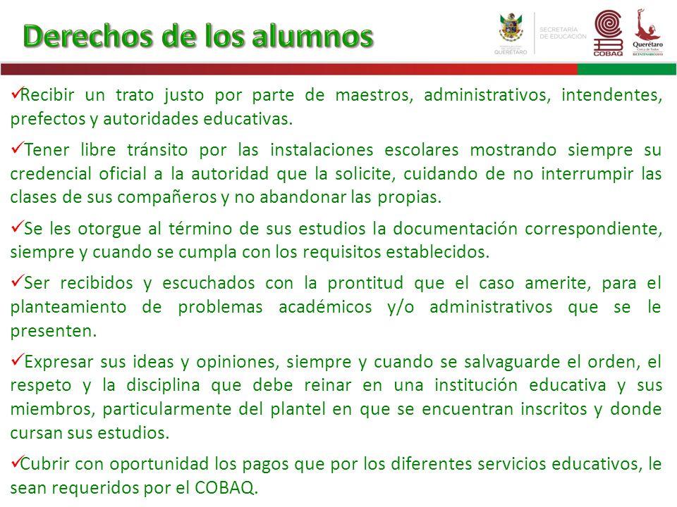 Derechos de los alumnos