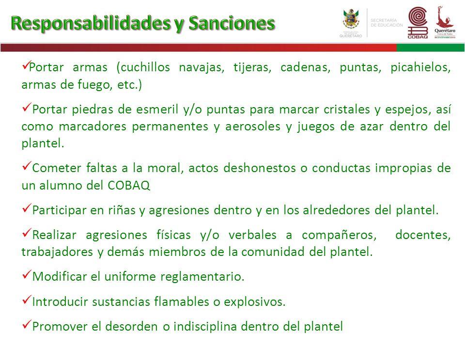 Responsabilidades y Sanciones