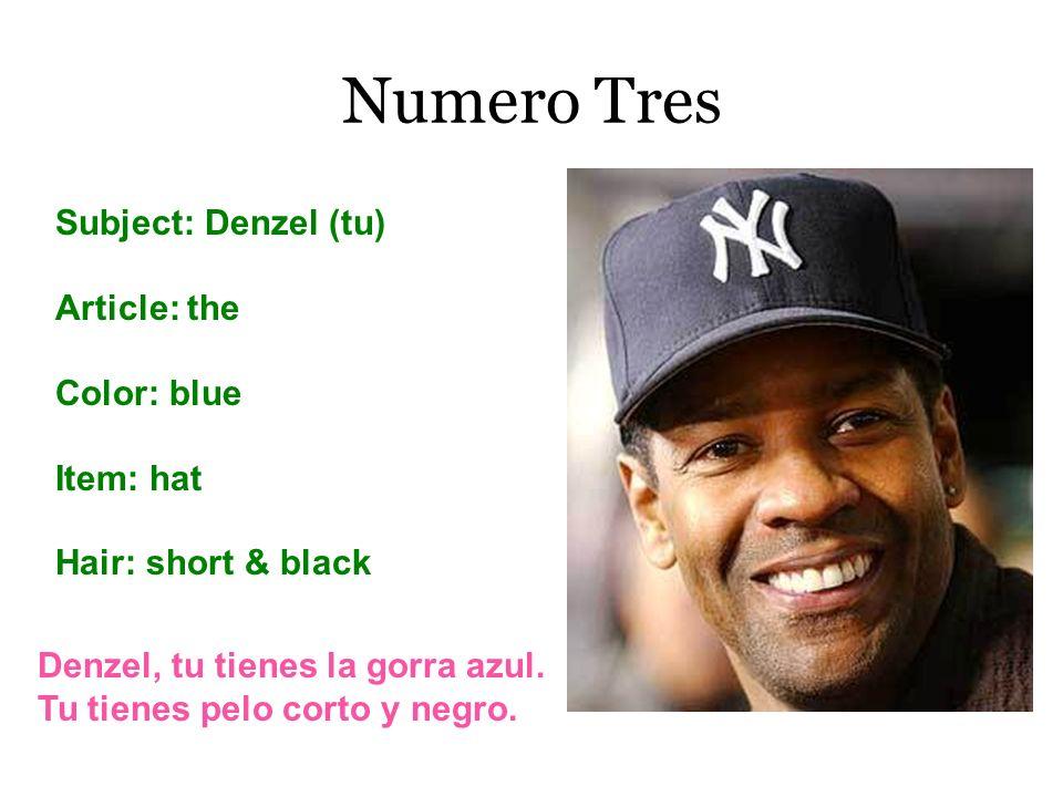 Numero Tres Subject: Denzel (tu) Article: the Color: blue Item: hat