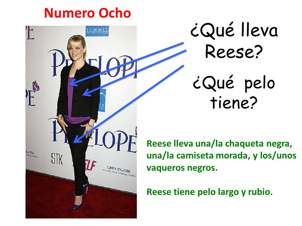¿Qué lleva Reese ¿Qué pelo tiene Numero Ocho