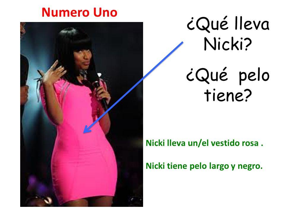 ¿Qué lleva Nicki ¿Qué pelo tiene Numero Uno