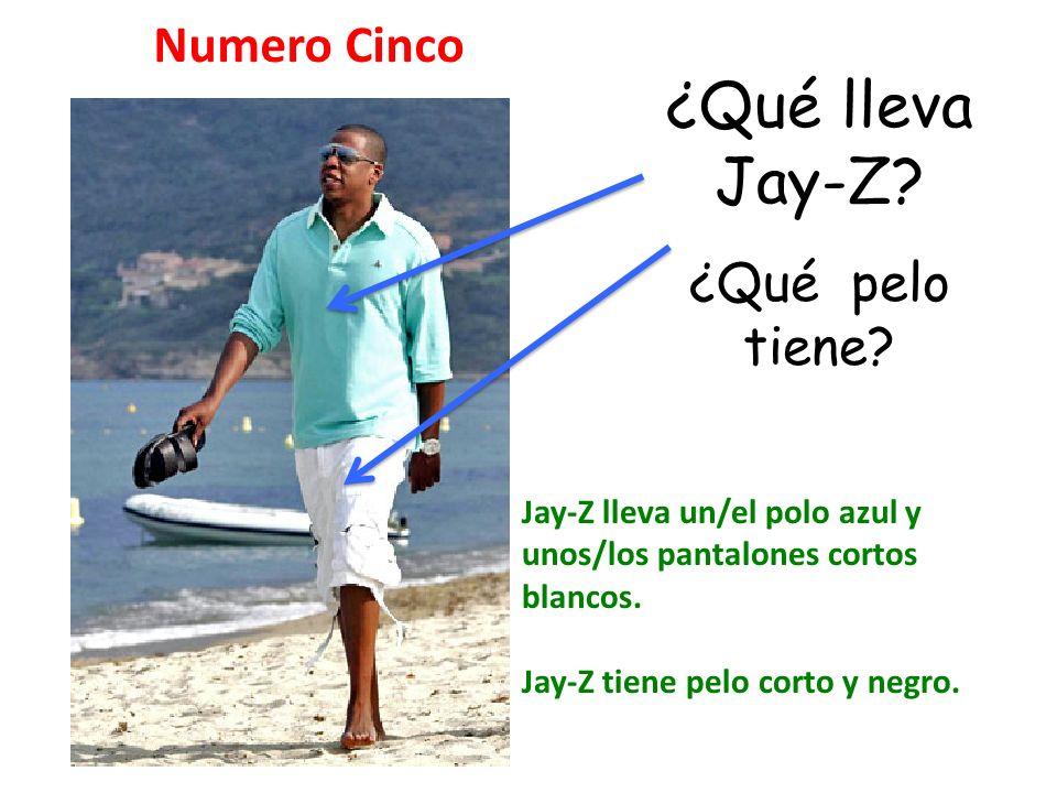 ¿Qué lleva Jay-Z Numero Cinco ¿Qué pelo tiene