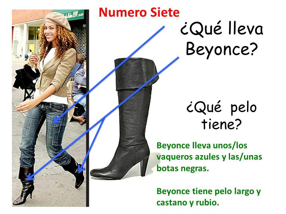¿Qué lleva Beyonce Numero Siete ¿Qué pelo tiene