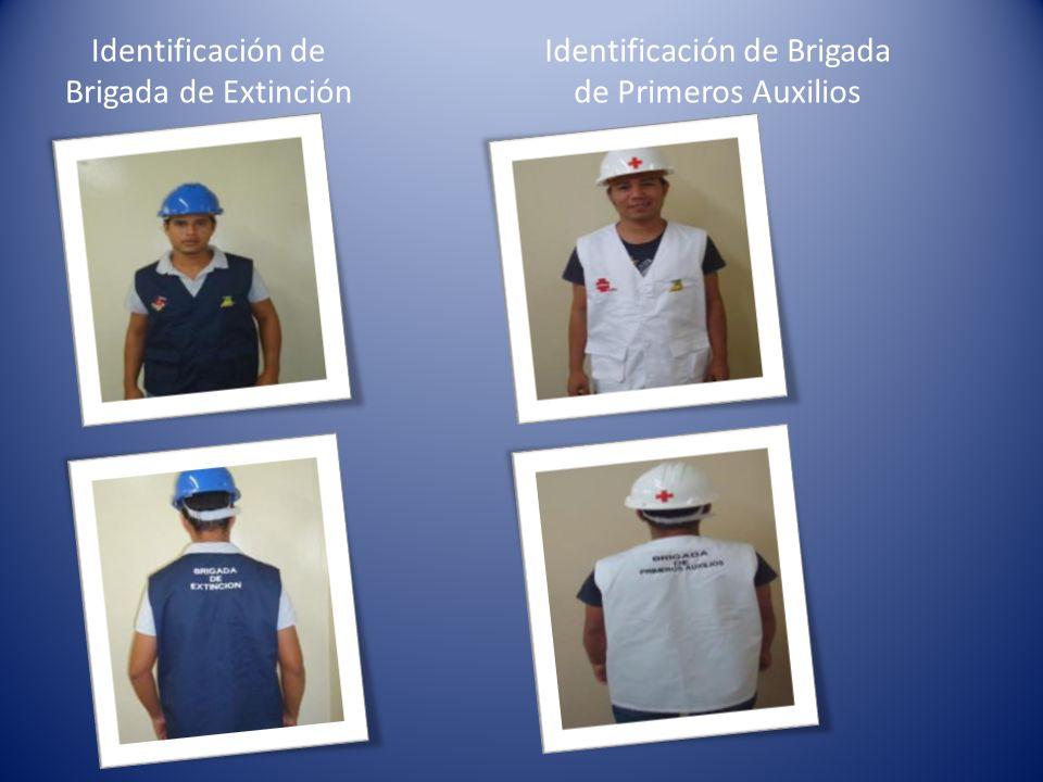 Identificación de Brigada de Extinción