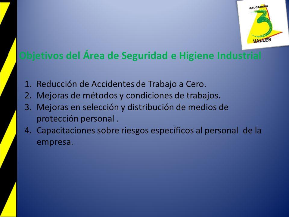 Objetivos del Área de Seguridad e Higiene Industrial