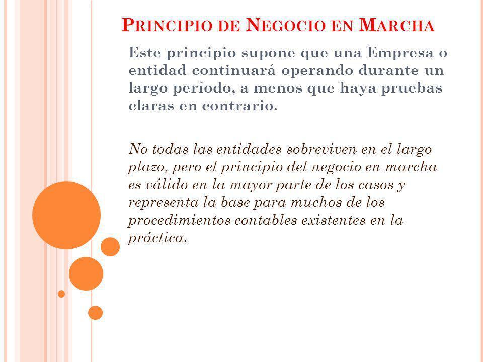 Principio de Negocio en Marcha