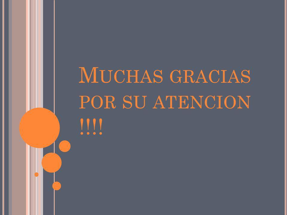 Muchas gracias por su atencion !!!!