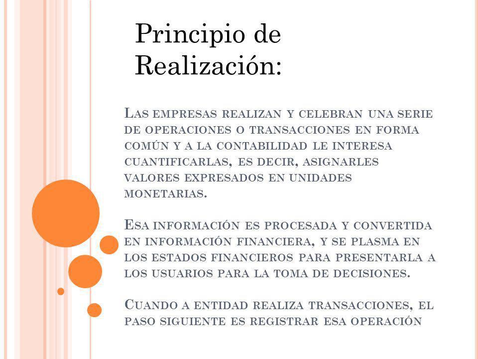 Principio de Realización: