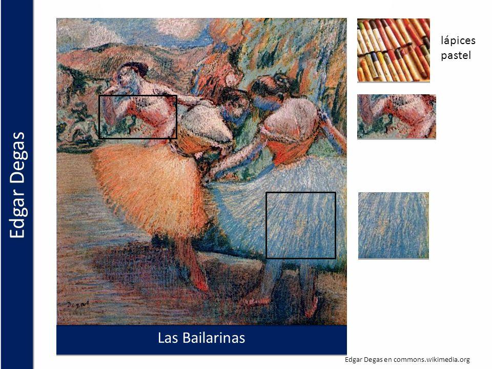 Edgar Degas Las Bailarinas lápices pastel