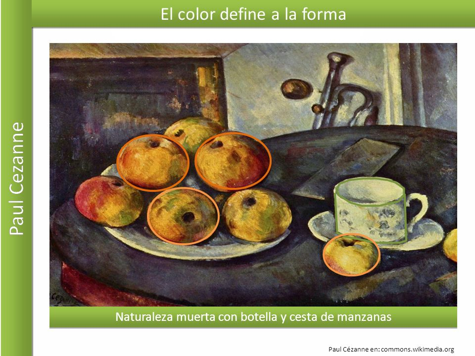 Paul Cezanne El color define a la forma