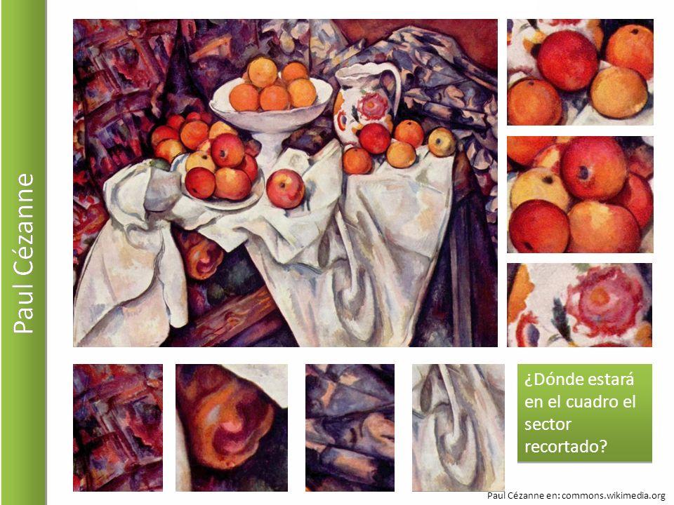 Paul Cézanne ¿Dónde estará en el cuadro el sector recortado