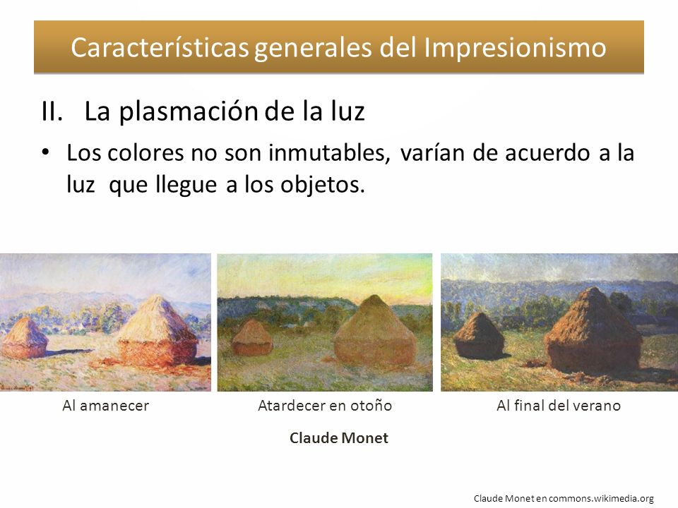 Características generales del Impresionismo