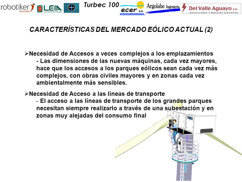 CARACTERÍSTICAS DEL MERCADO EÓLICO ACTUAL (2)