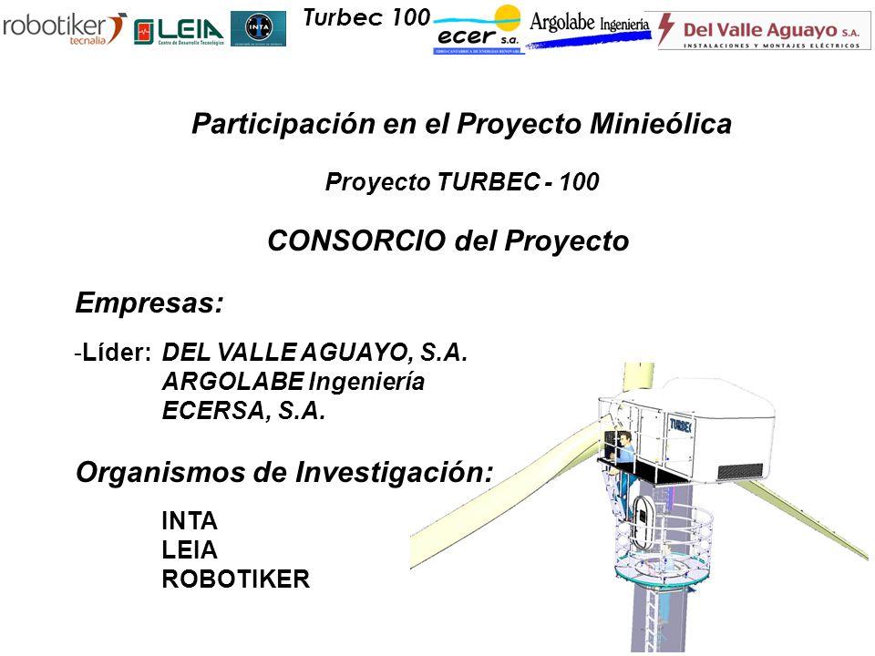 Participación en el Proyecto Minieólica CONSORCIO del Proyecto