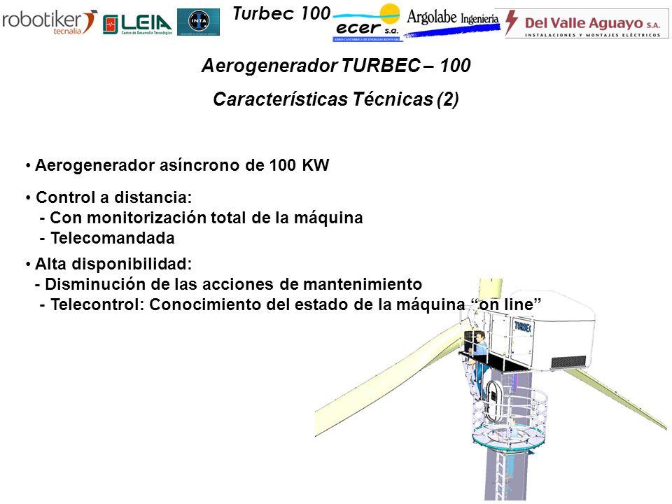 Aerogenerador TURBEC – 100 Características Técnicas (2)