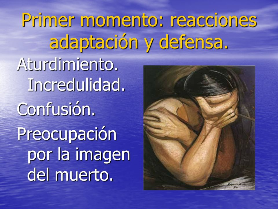 Primer momento: reacciones adaptación y defensa.