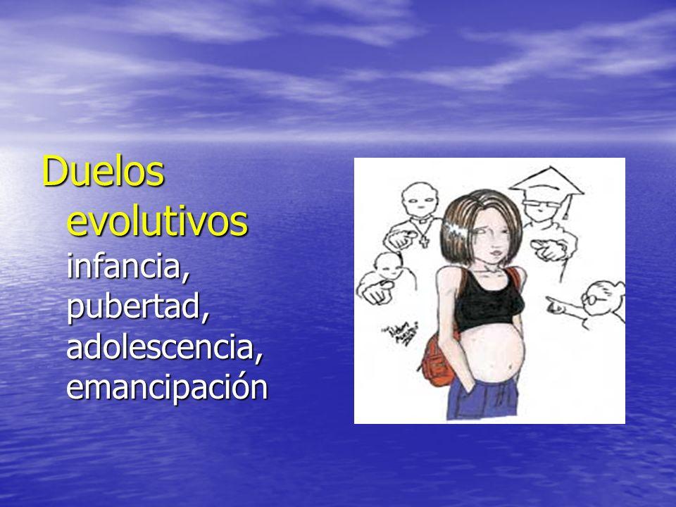Duelos evolutivos infancia, pubertad, adolescencia, emancipación