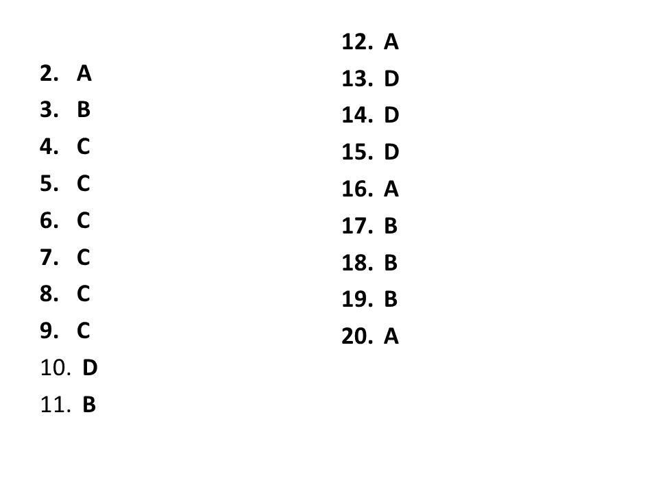 A B C D A D B