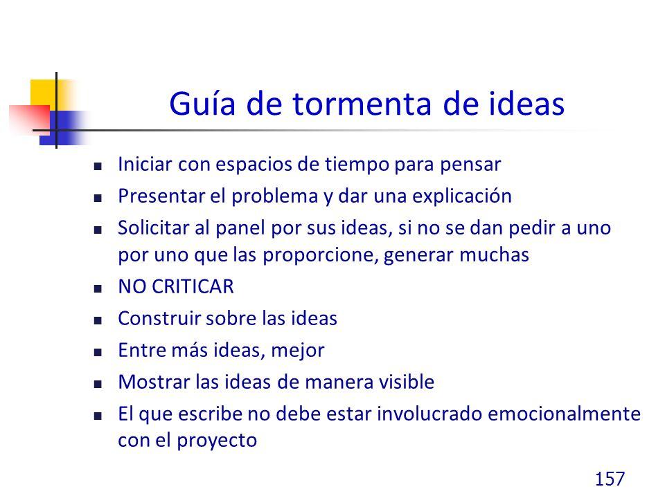 Guía de tormenta de ideas