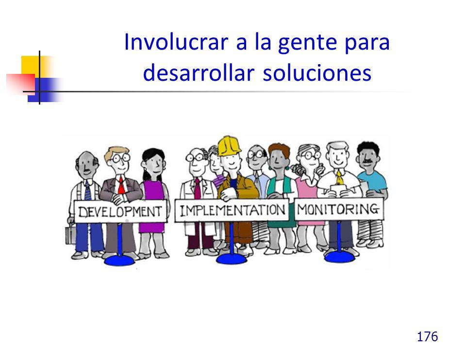 Involucrar a la gente para desarrollar soluciones