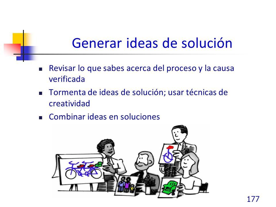Generar ideas de solución