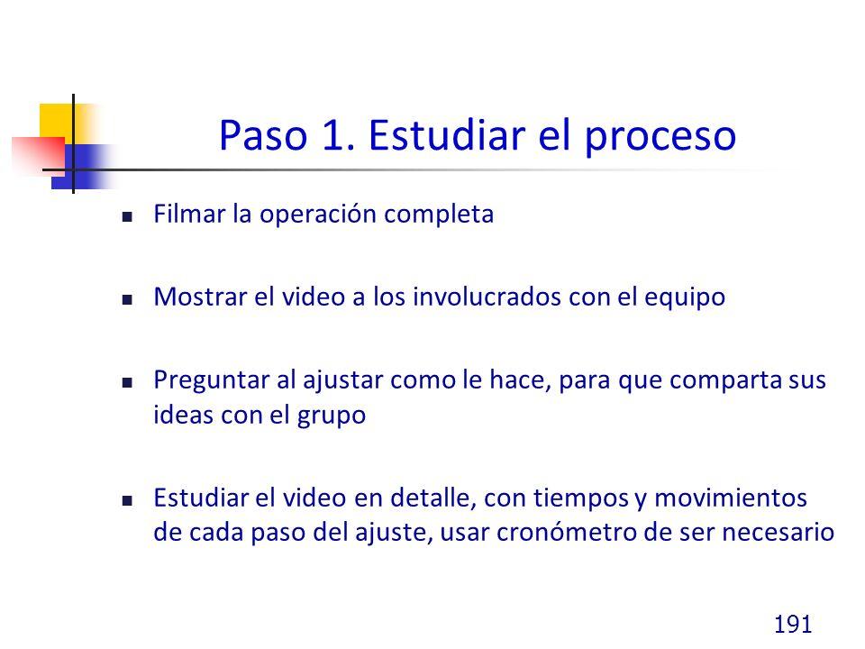 Paso 1. Estudiar el proceso