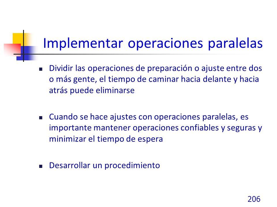 Implementar operaciones paralelas