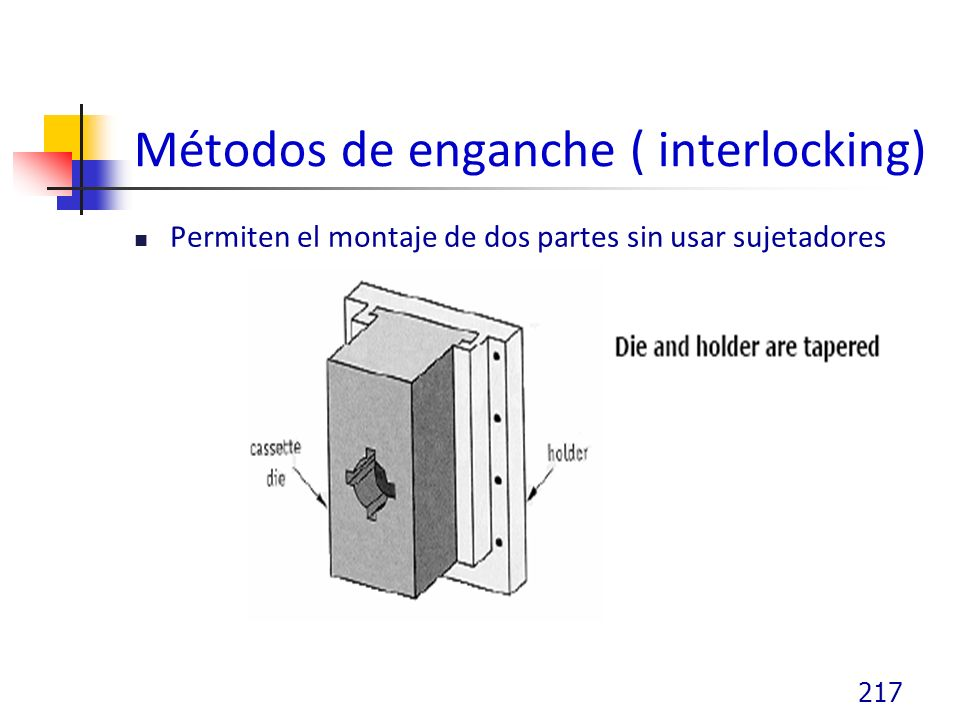 Métodos de enganche ( interlocking)