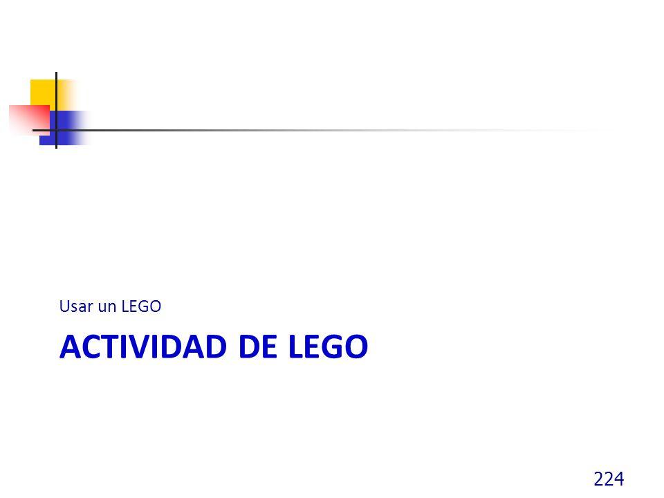 Usar un LEGO Actividad de lego