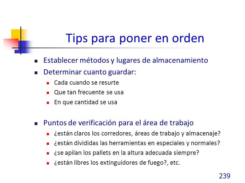 Tips para poner en orden