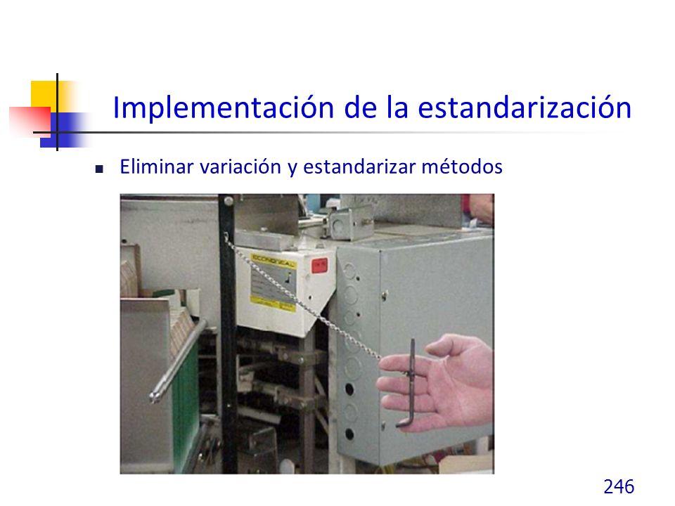 Implementación de la estandarización