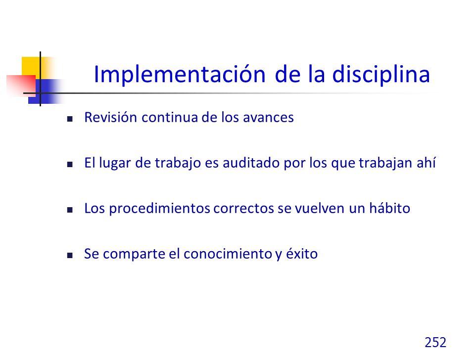 Implementación de la disciplina