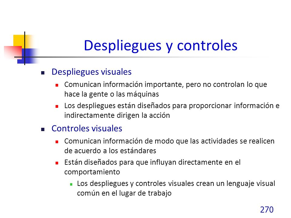 Despliegues y controles
