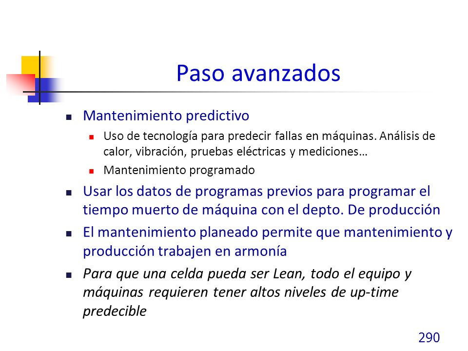 Paso avanzados Mantenimiento predictivo