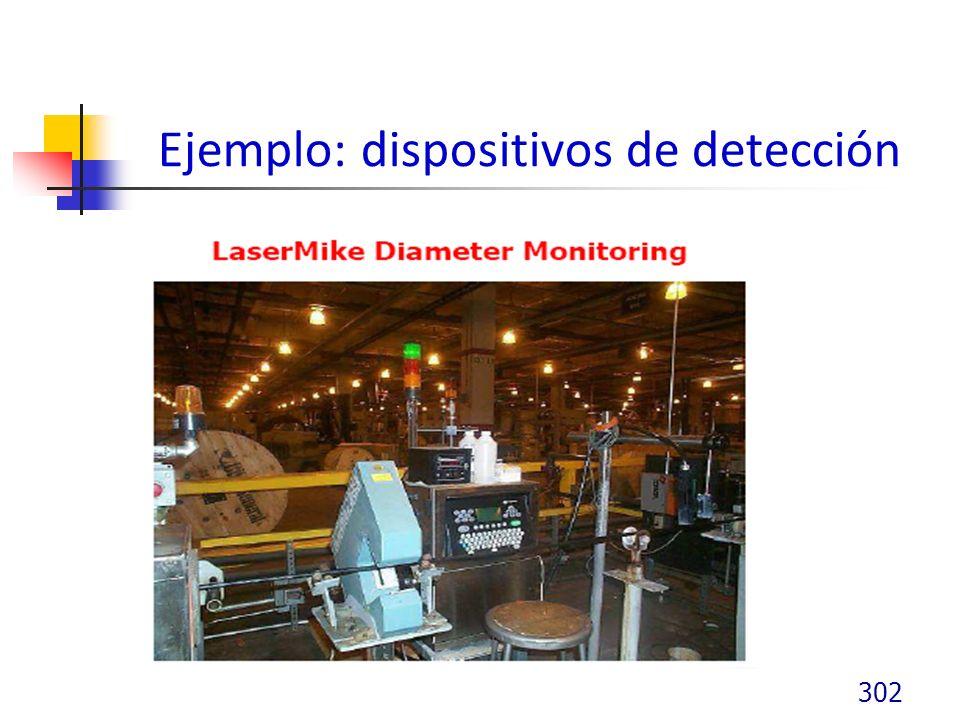 Ejemplo: dispositivos de detección