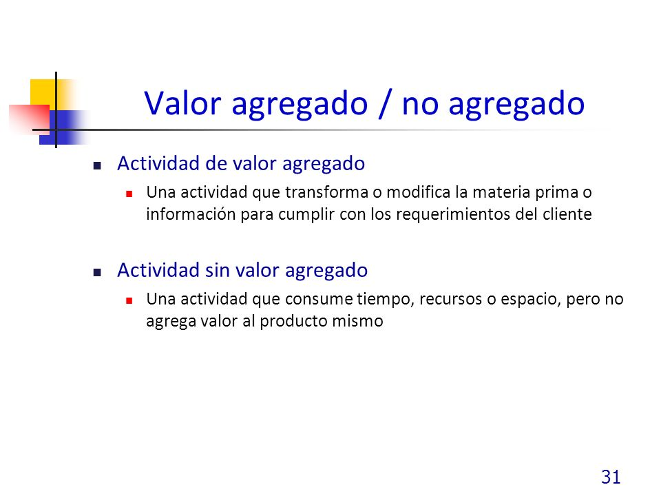 Valor agregado / no agregado
