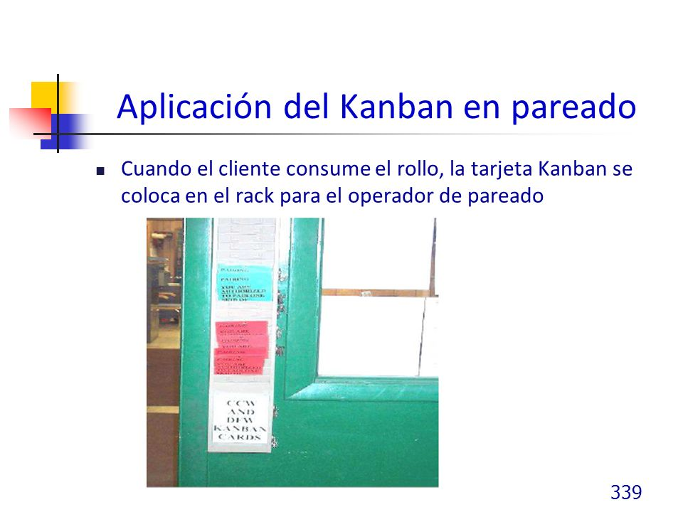 Aplicación del Kanban en pareado